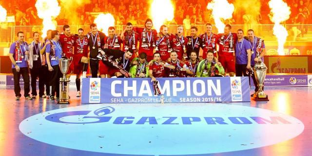 Veszprém remporte pour la deuxième année consécutive la Ligue SEHA. (Photo : SEHA/Zsolt Melczer)