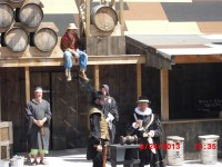 """Judge, Jury and Executioner this show is put on each day and they """"put to justice"""" the Npc's of the faire."""
