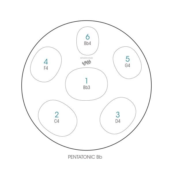 ハンドパン 6和音モデル 48 cm • Handpan Si♭ [B♭] • フランス製 • New Design