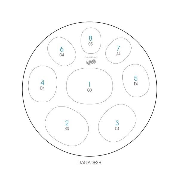 ハンドパン 8和音モデル 55 cm • Handpan Ragadesh • フランス製 • New Design