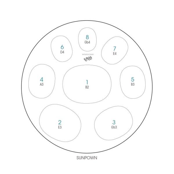 ハンドパン 8和音モデル 60 cm • Handpan Sunpown • フランス製 • New Design