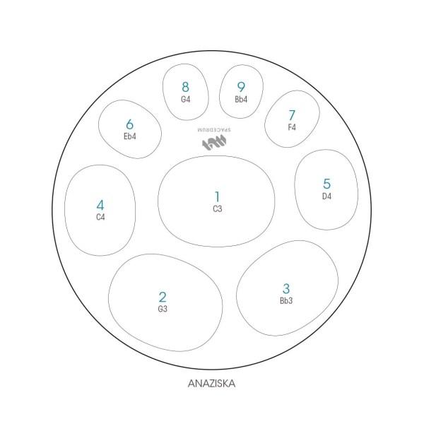 ハンドパン 9和音モデル 60 cm • Handpan Anaziska • フランス製 • New Design