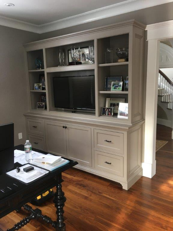 Fully utilize your wall space with a custom built-in while home remodeling