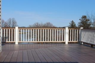 Large open remodeled deck