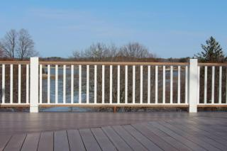 Open deck and railing