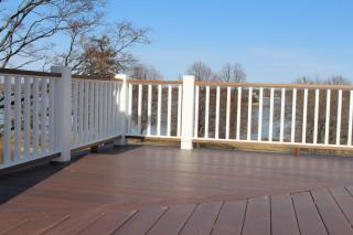Endless views from deck with railing