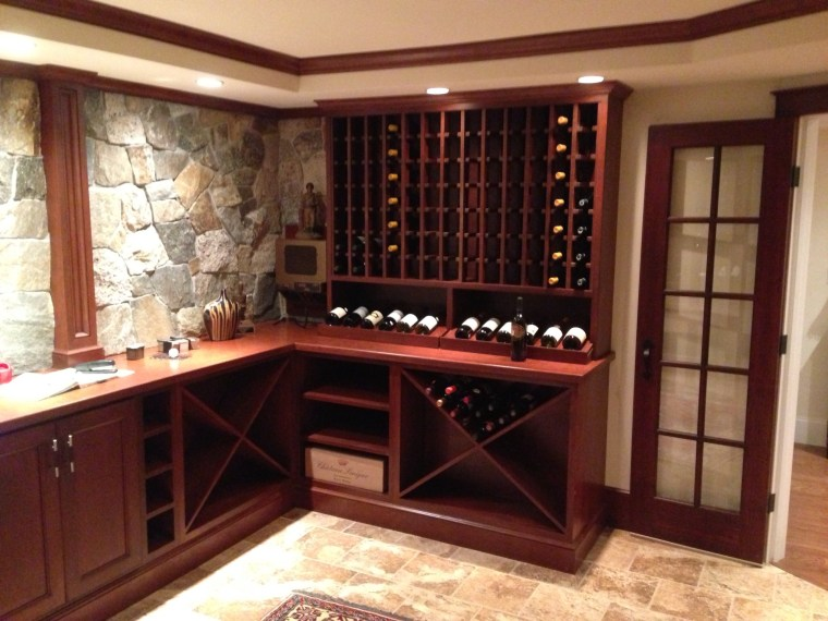 Handrahan Remodeling created a custom wine cellar for this home builder