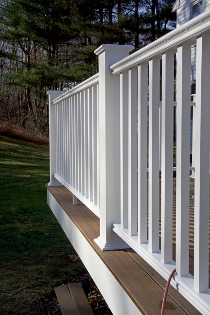 Details of remodeled deck and railing