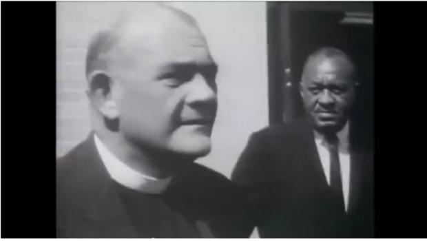 Eugene Carson Blake arrested, July 4, 1963