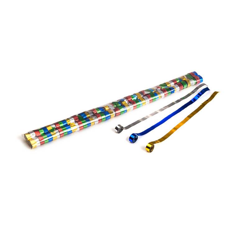 Schritt 2: GIGANT – Metallic Streamer bunt – 5 m x  0,85 cm – 100 Rollen