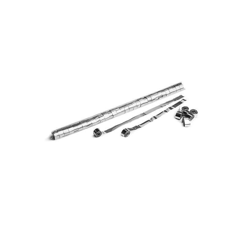 Schritt 2: GIGANT - Metallic Streamer silber - 10 m x  1,5 cm - 32 Rollen