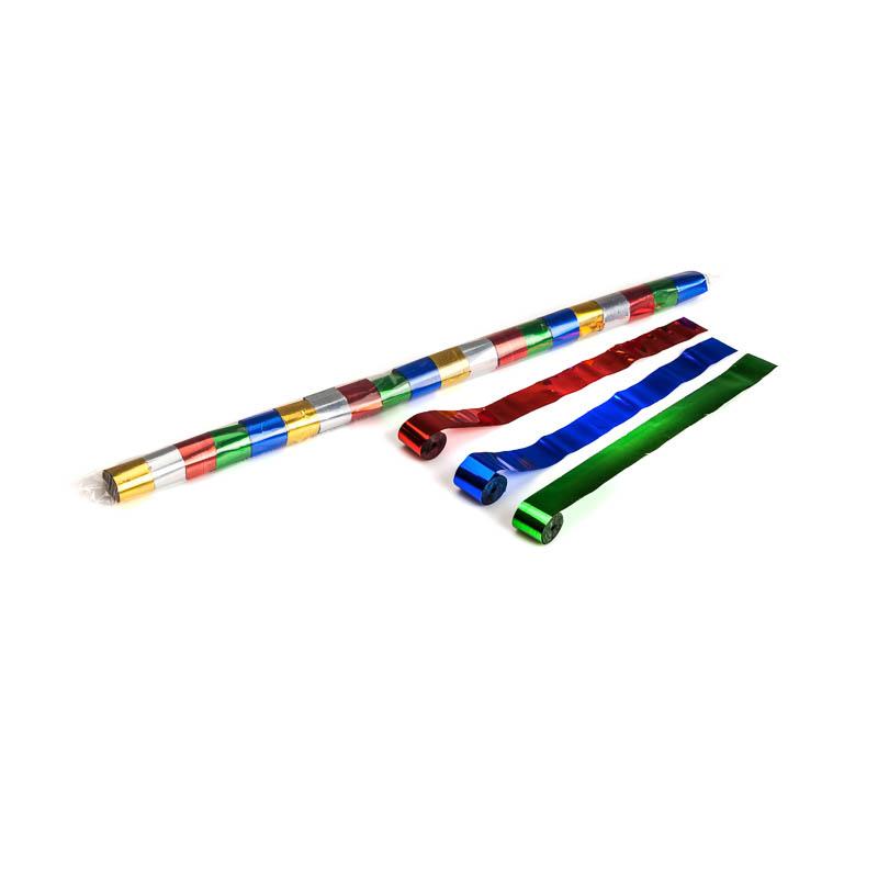 Schritt 2: GIGANT – Metallic Streamer bunt – 10 m x  2,5 cm – 32 Rollen