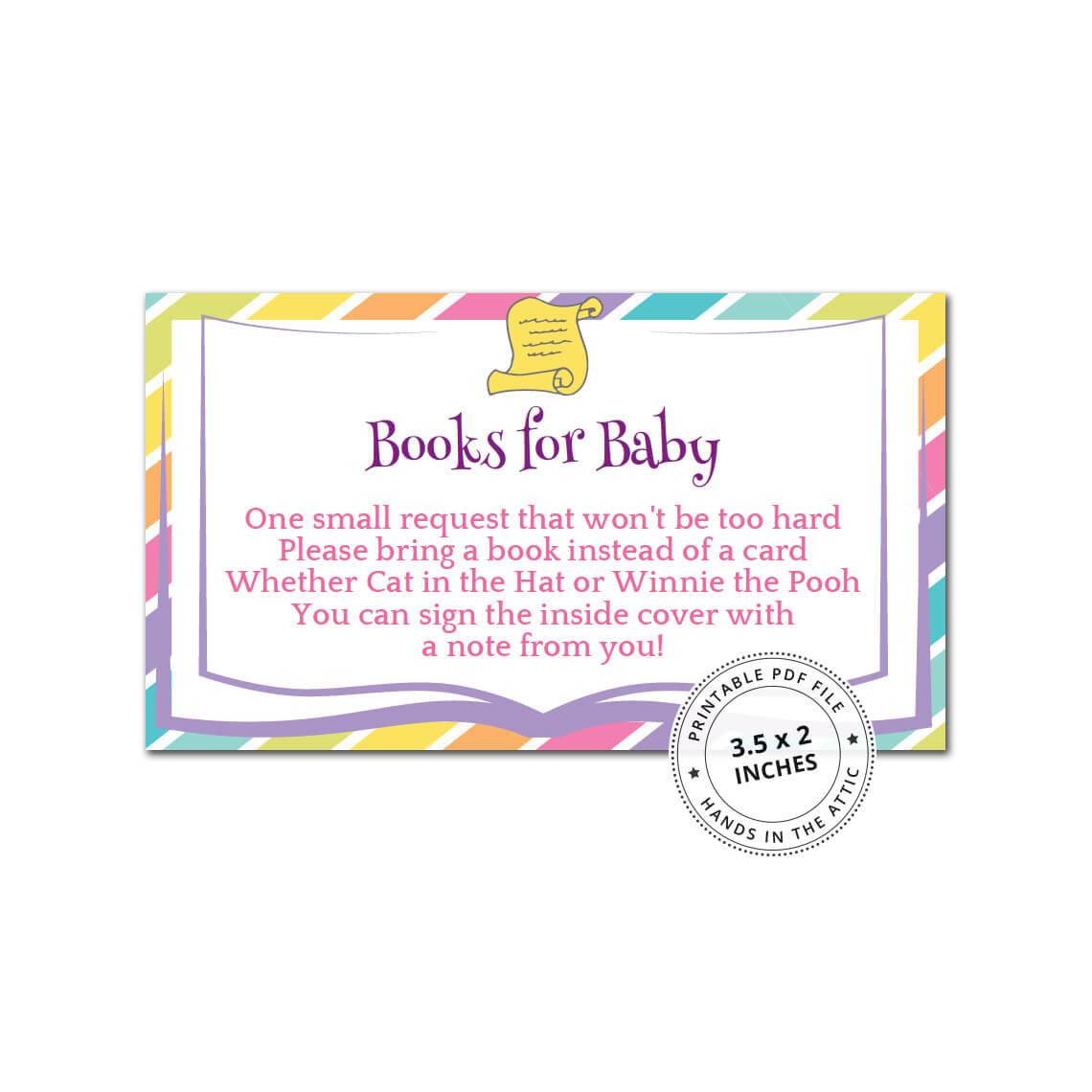 Rainbow Books For Baby Card