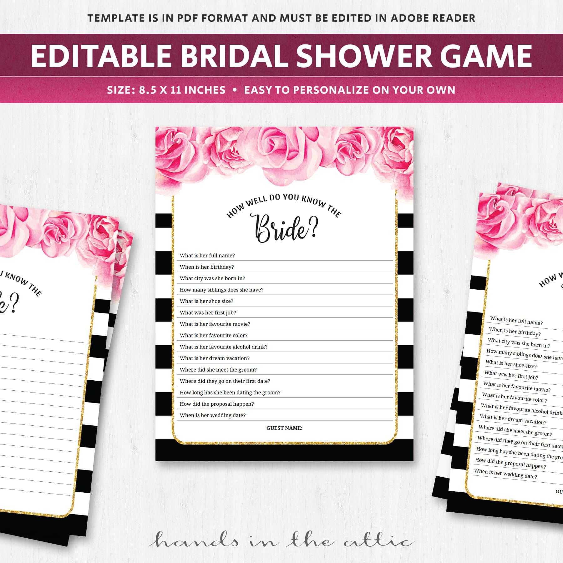 Fun Bridal Shower Games