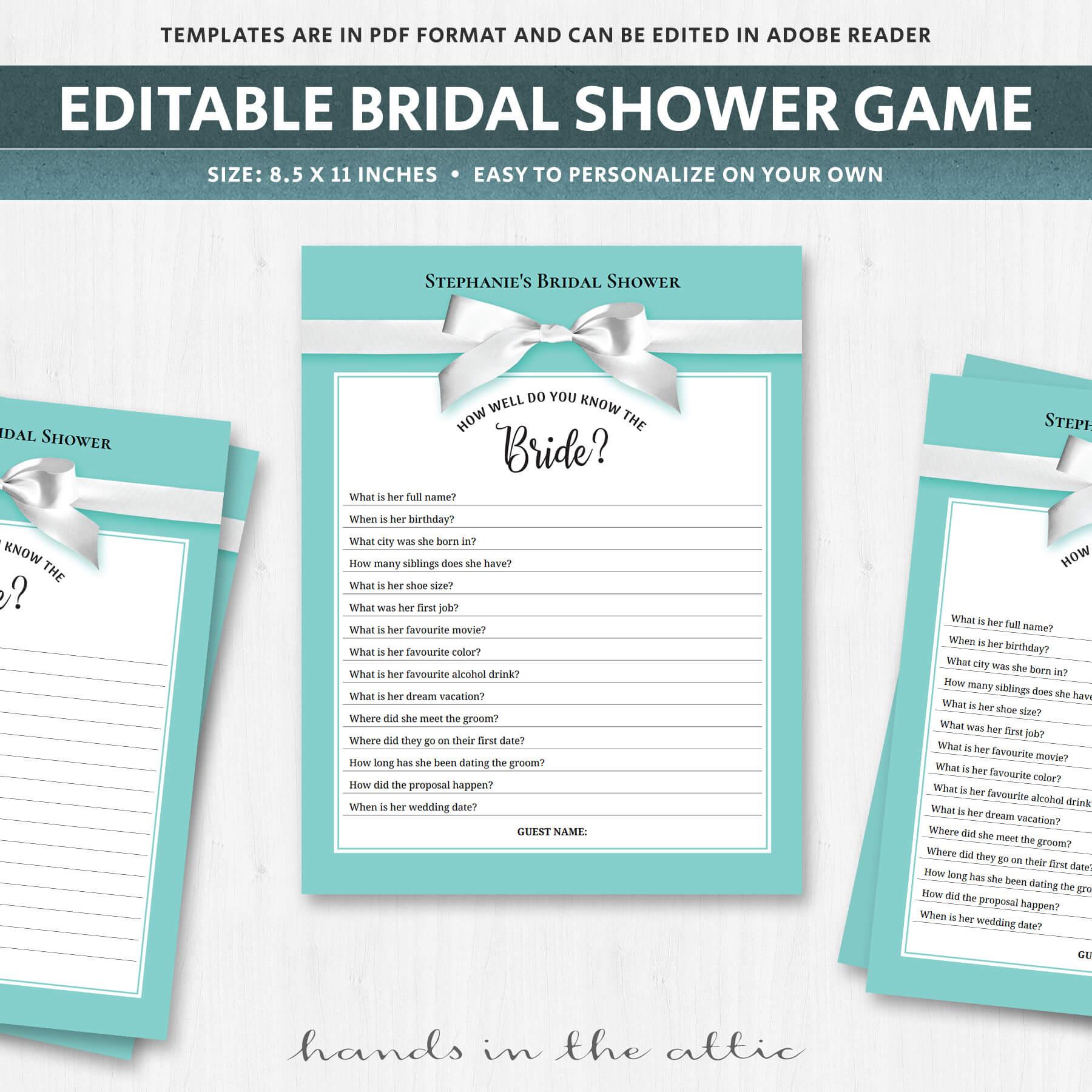 Unique Bridal Shower Games