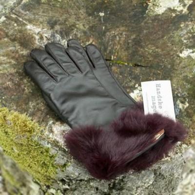 Handske med kaninkant