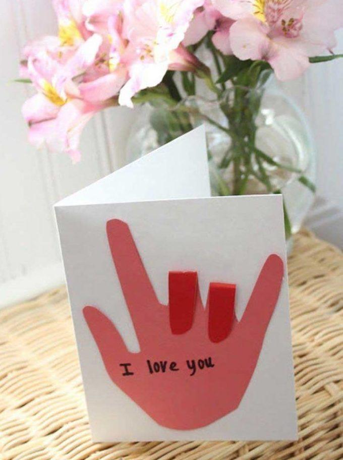 Cartolina con gesti