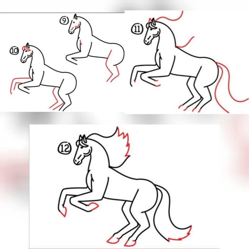 Gezamenlijke paardenfase seconde