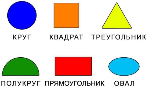 Фигуры из геометрических фигур. Картинки для детей 2-3 лет ...