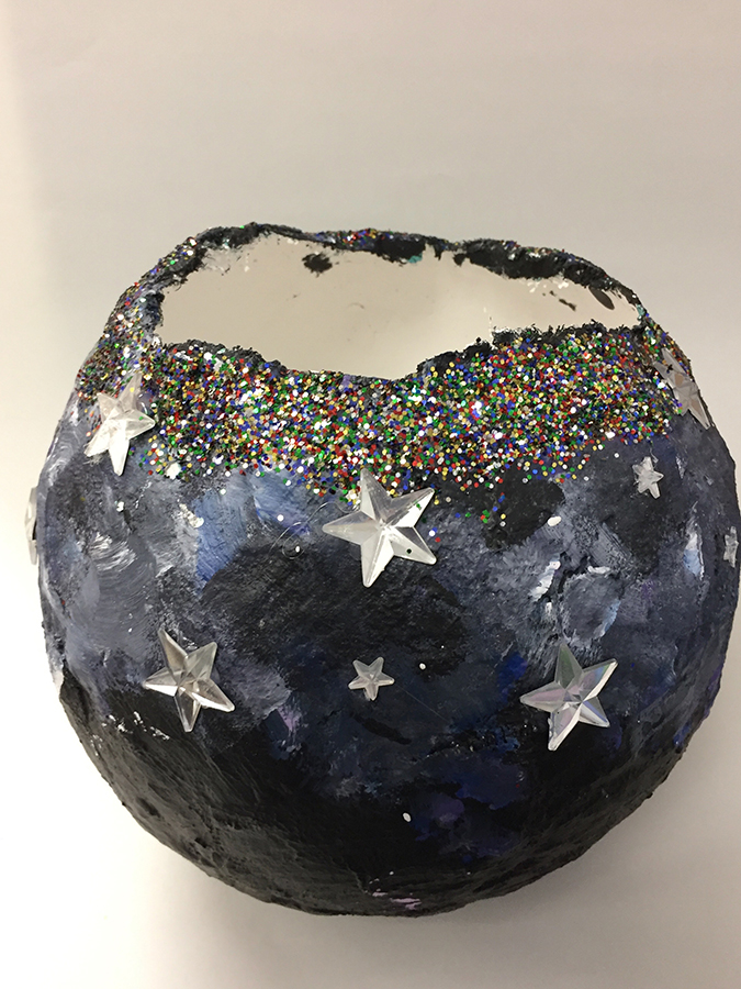 Plaster bowl with Stars