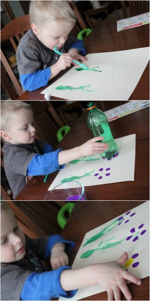 A creative spring flower art project for kids to make