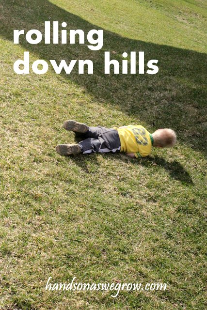 Outdoor Activity: Roll down the Hills with the Kids