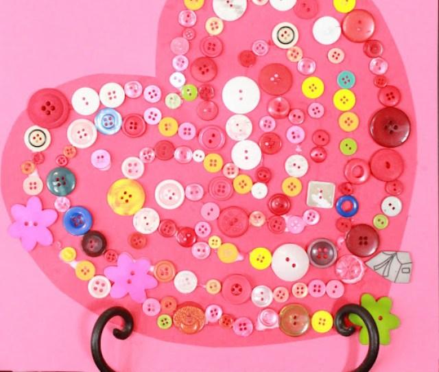 Button Heart Valentine Craft