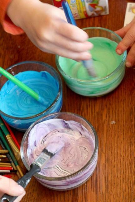 Get started on your tinting craft: mix Mod Podge and food coloring!