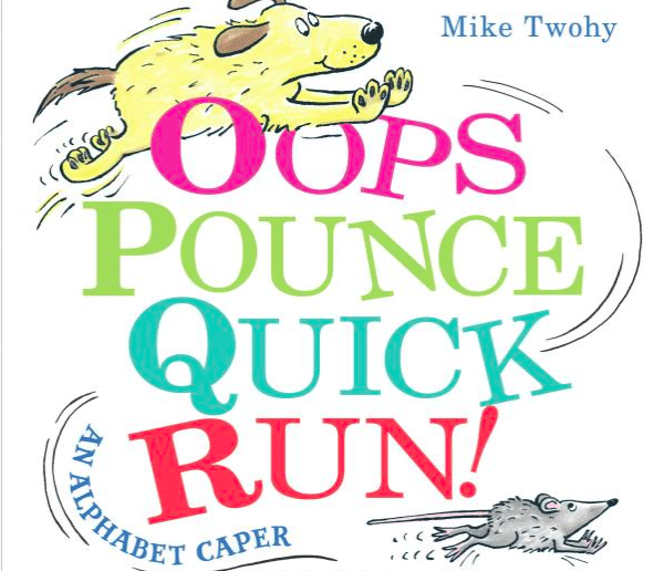 Tag along on a chase from A to Z in this alphabet picture book!