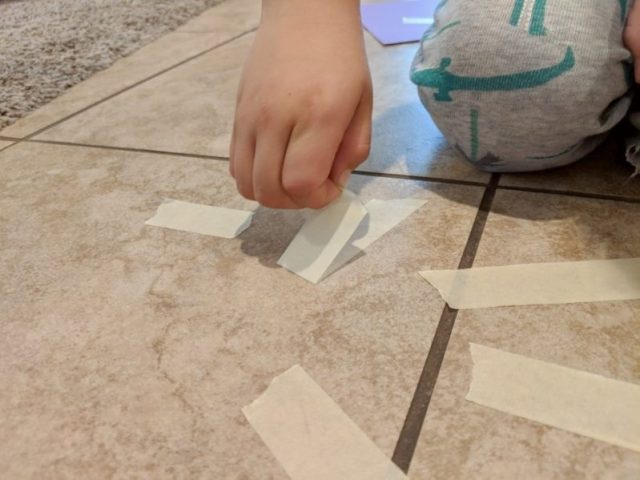 Peel and stick art is a great fine motor skills workout!