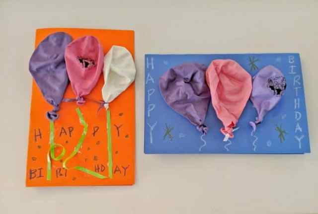 Your DIY balloon birthday card craft will add a pop of fun to the party!