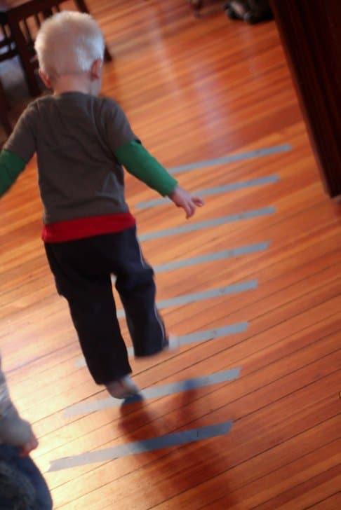 Gross Motor Activity: Tape Jumping Game