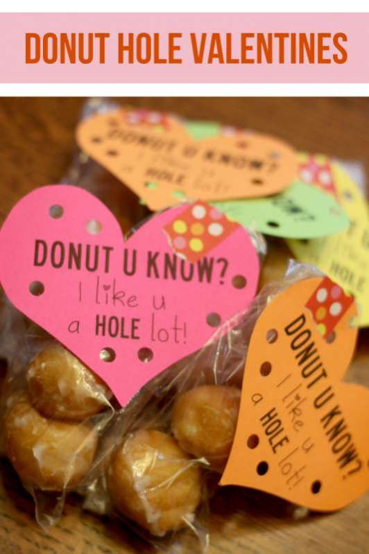 Donut Hole Kids Valentines Free Printable Hands On As We