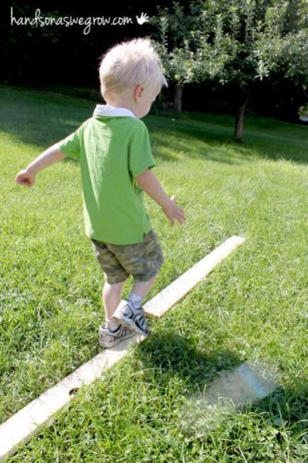 Homemade Balance Beam for Toddlers - hands on : as we grow