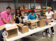 Sarah Cannon volunteers sorted summer snack packs for elementary students at Second Harvest Food Bank of Middle Tennessee on June 16, 2016.