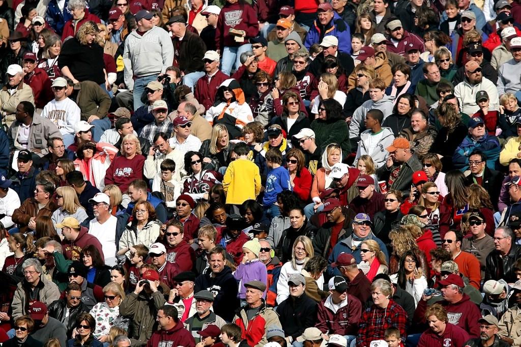 overcrowded stadium makes you anxious