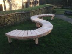 S shape bench