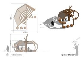 HSD Spider shelter dimensions