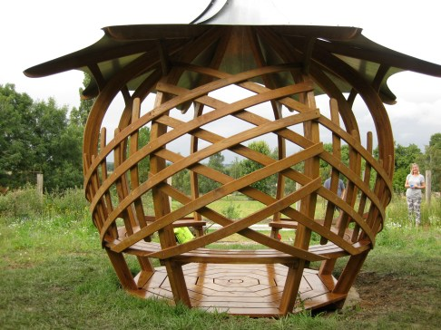 Laced Onion Shelter - rear view