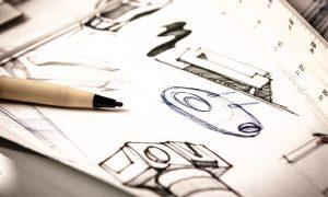 Handstand Creative sketching