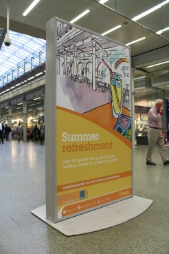 Summer 2016 at St Pancras station