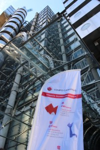 Brand launch at Lloyd's Building for Sompo Canopius