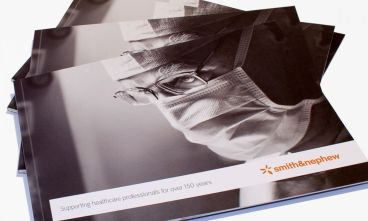 Smith & Nephew advertising brochure cover artwork