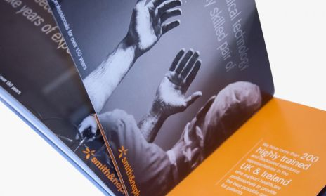 Smith & Nephew advertising brochure artwork