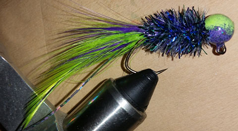 Grape Limeade Standard Handtied Crappie Jig