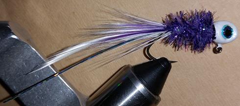 Purple Mist Handtied Crappie Jig