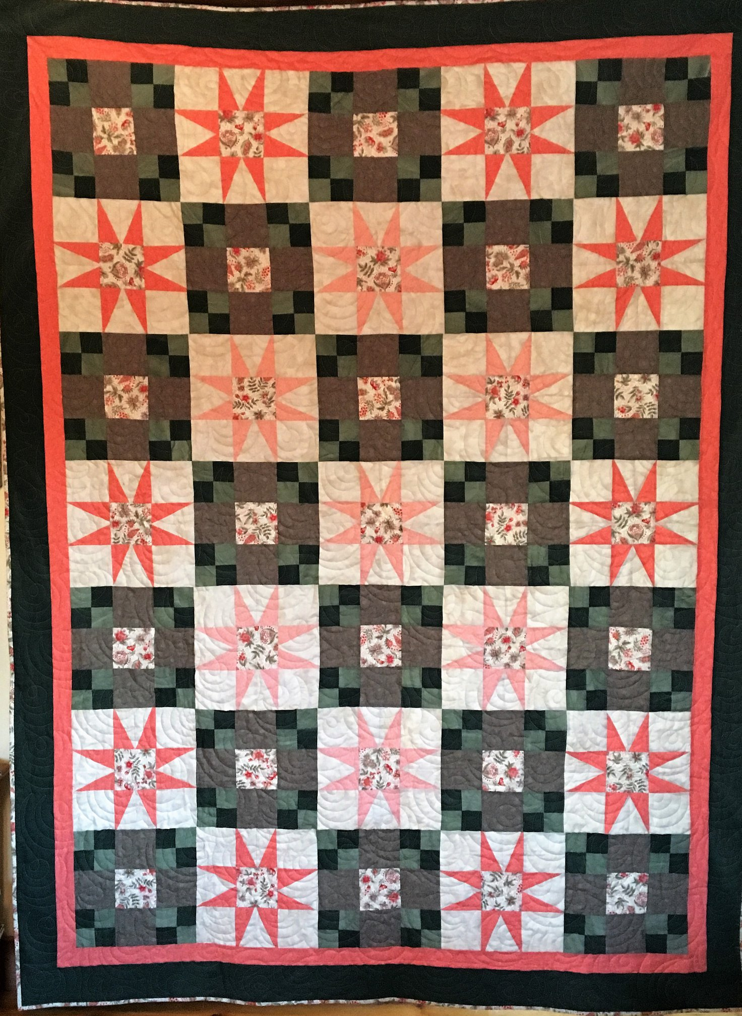 Quilt donated by the Cornish Quilters for the quilt raffle to benefit Hand to Heart