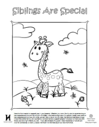 Giraffe Coloring Page - English