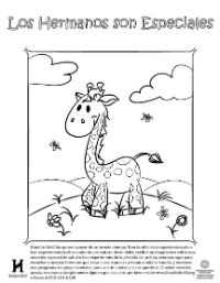 Giraffe Coloring Page - Spanish