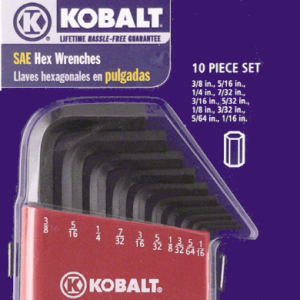 Kobalt SAE Hex Key Set